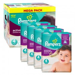 Pampers - Mega Pack 504 Couches Active Fit - Premium Protection taille 4 sur Les Couches