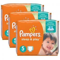 Pampers - Maxi Pack 116 Couches Sleep & Play taille 5