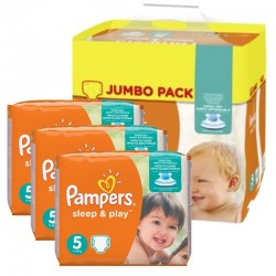 Pampers - Giga Pack 348 Couches Sleep & Play taille 5