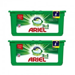 Lot de 2 Ariel Pods 28 Original 3in1 (795,2 gr) sur Les Couches