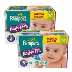 Giga Pack 140 Couches Pampers Active Fit sur Les Couches