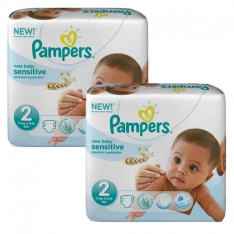 Pampers - 120 Couches New Baby Sensitive taille 2 sur Les Couches