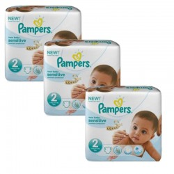 Pampers - 180 Couches New Baby Sensitive taille 2