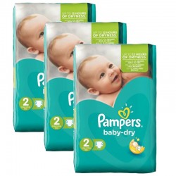 Pampers - 126 Couches Baby Dry taille 2