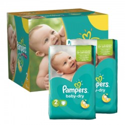 Pampers - 210 Couches Baby Dry taille 2