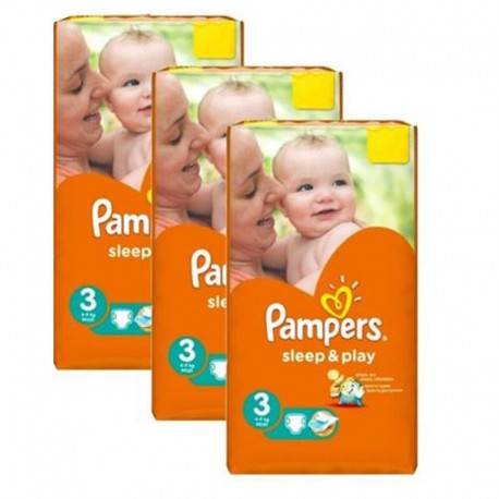 Pampers - Mega Pack 246 Couches Sleep & Play taille 3 sur Les Couches