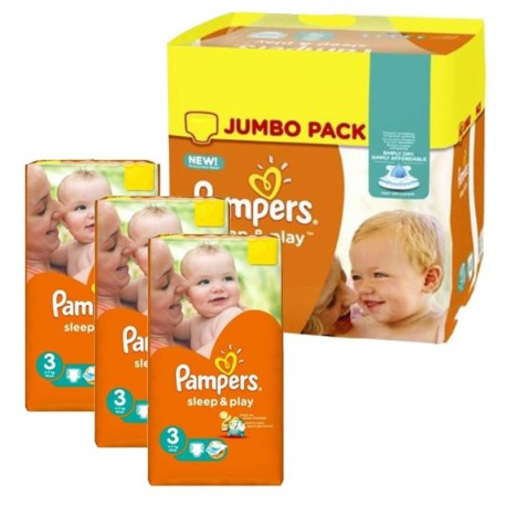 Pampers - Mega Pack 328 Couches Sleep & Play taille 3 sur Les Couches