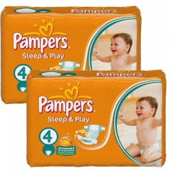 Pampers - Maxi Pack 108 Couches Sleep & Play taille 4 sur Les Couches