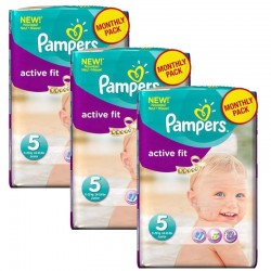 Pampers - Giga Pack 282 Couches Active Fit taille 5