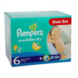 Pampers - Giga pack 126 Couches Active Baby Dry taille 6