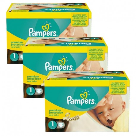 Pampers - Maxi Pack Jumeaux 506 Couches new baby - premium protection taille 1 sur Les Couches