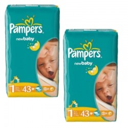 Pampers - Pack 86 Couches New Baby Dry taille 1