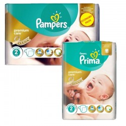 Pampers - Pack 114 Couches new baby - premium protection taille 2 sur Les Couches