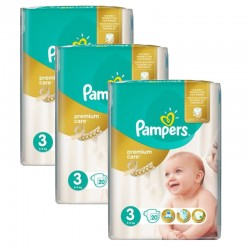Pampers - Maxi Pack 60 Couches Premium Care - Prima taille 3 sur Les Couches