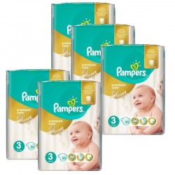 Pampers - Mega Pack 140 Couches Premium Care - Prima taille 3