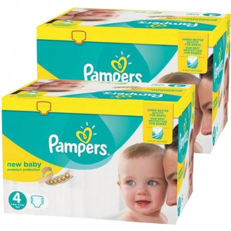 Giga Pack Jumeaux 585 couches Pampers New Baby Premium Protection sur Les Couches