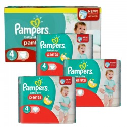 Pampers - Maxi Pack 376 Couches Baby Dry Pants taille 4 sur Les Couches