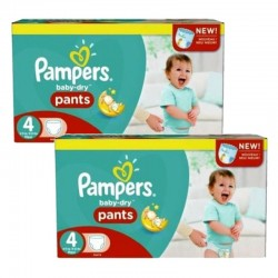 Pampers - pack Jumeaux 564 Couches Baby Dry Pants taille 4