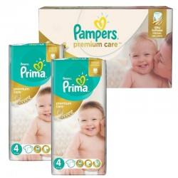 Pampers - Giga Pack 120 Couches Premium Care - Prima taille 4