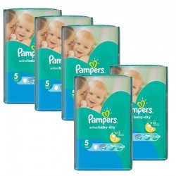 Mega Pack 352 couches Pampers Active Baby Dry sur Les Couches