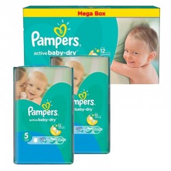 Pack Jumeaux 440 couches Pampers Active Baby Dry sur Les Couches