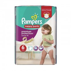 Pampers - Pack 16 Couches Active Fit - Pants taille 6 sur Les Couches