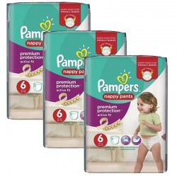 Pampers - Mega Pack 64 Couches Active Fit - Pants taille 6 sur Les Couches