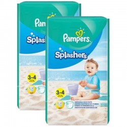 Pampers - Mega Pack 36 Couches de bains Splashers taille 3 sur Les Couches