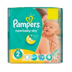 Pampers - Pack 43 Couches New Baby Dry taille 2