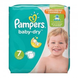 Pampers - Pack 30 Couches Baby Dry taille 7 sur Les Couches