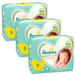 Pampers - Maxi Pack 90 Couches New Baby Premium Care taille 0