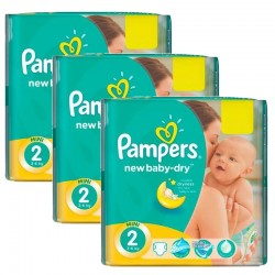 Pampers - Mega Pack 129 Couches New Baby Dry taille 2