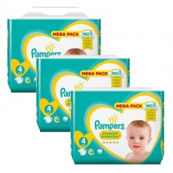 Pampers - Mega Pack 246 Couches New Baby Premium Protection taille 4 sur Les Couches