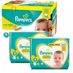 Pampers - Giga Pack 328 Couches New Baby Premium Protection taille 4