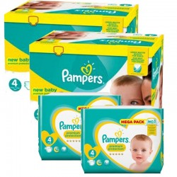 Pampers - Giga Pack 574 Couches New Baby Premium Protection taille 4