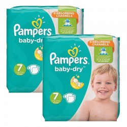 Pampers - Mega Pack 60 Couches Baby Dry taille 7 sur Les Couches