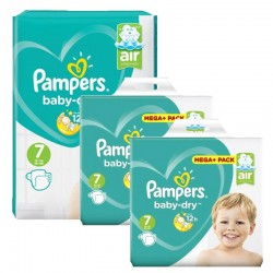 Pampers - Maxi Pack 232 Couches Baby Dry taille 7 sur Les Couches