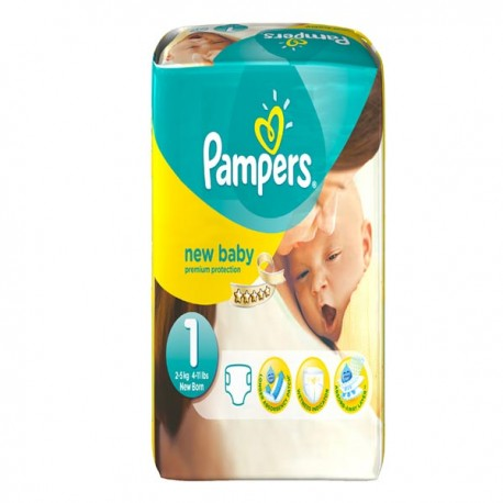 Pampers - 56 Couches New Baby taille 1 sur Les Couches