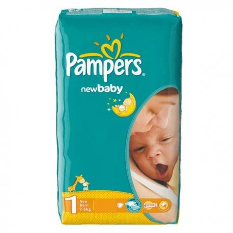 Pampers - 43 Couches New Baby Dry taille 1 sur Les Couches