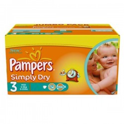 LesCouches Pack 45 couches Pampers Simply Dry