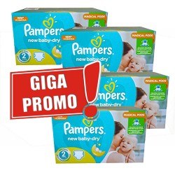 Pampers - Maxi mega pack 430 Couches New Baby Dry sur Les Couches