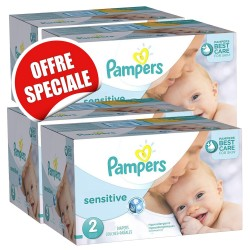 Pampers - Maxi giga pack 300 Couches New Baby Sensitive sur Les Couches