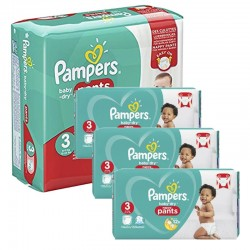 Pampers - Maxi mega pack 400 Couches Baby Dry Pants taille 3 sur Les Couches