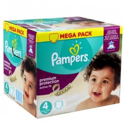 Pampers - Maxi mega pack 492 Couches Active Fit Premium Protection taille 4 sur Les Couches