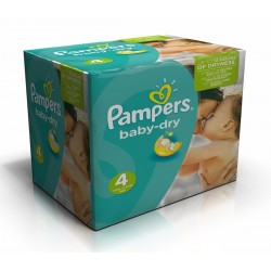 Pampers - Maxi giga pack 308 Couches Baby Dry taille 4 sur Les Couches