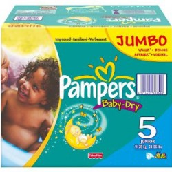 Pampers - 92 Couches Baby Dry taille 6 sur Les Couches