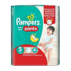 Pampers - Pack 52 Couches Baby Dry Pants taille 5 sur Les Couches