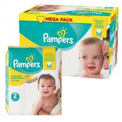 Pampers - Mega pack 155 Couches New Baby Premium Protection taille 2 sur Les Couches