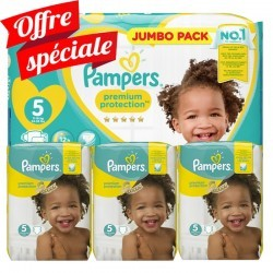 Pampers - Mega pack 140 Couches New Baby Premium Protection taille 5 sur Les Couches