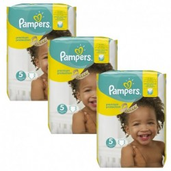 Pampers - Pack 90 Couches New Baby Premium Protection taille 5 sur Les Couches